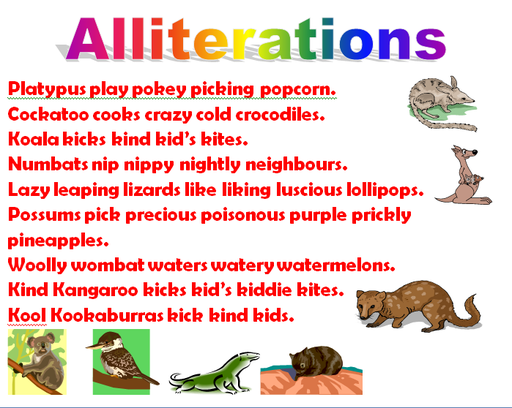 Alliteration Figurative Language